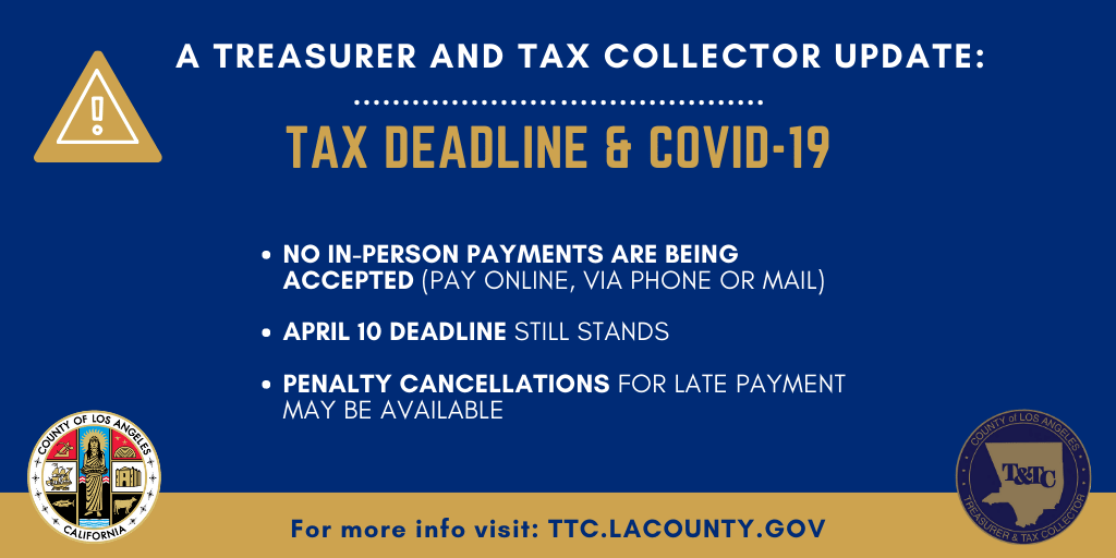Tax Deadline & Covid-19